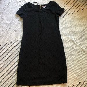 Black Calvin Klein lace dress